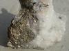 Pyrite on Calcite